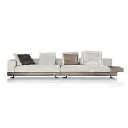 White sadde-hide | Sofas | Minotti