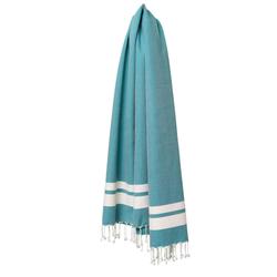 fouta Classique bleu lumineux, petrol blue | Towels | fouta gmbh