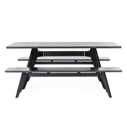 Lavitta rectangular table and bench | Restaurant tables and benches | Poiat