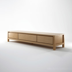 Solid TV CHEST 2 DRAWERS 1 FLAP DOOR | Hifi/TV Schränke / Kommoden | Karpenter