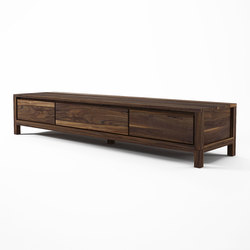 Solid TV CHEST 2 DRAWERS 1 FLAP DOOR | Muebles Hifi / TV | Karpenter