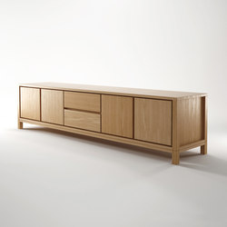Solid SIDEBOARD 4 DOORS 2 DRAWERS | Credenze | Karpenter