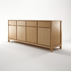 Solid SIDEBOARD 4 DOORS 4 DRAWERS | Credenze | Karpenter