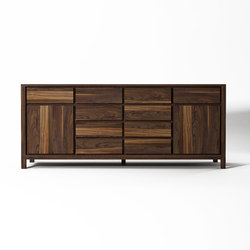 Solid SIDEBOARD 2 DOORS 10 DRAWERS | Credenze | Karpenter