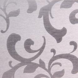 Floral | 300 | Paneles / placas de metal | Inox Schleiftechnik