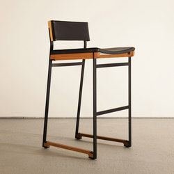Catenary Bar Stool - Solid Seat | Barhocker | Token