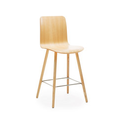Sola barstool wooden base & backrest | Bar stools | Martela Oyj
