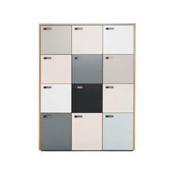 The Wall 12 lockers | Cabinets | Martela