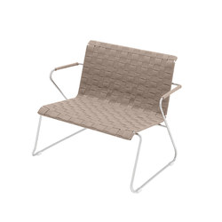Slim Collection Lounge | Lounge Chair Belt with armrest | Armchairs | Viteo