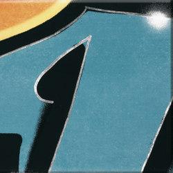 GRAFFITI petrol-orange | Piastrelle ceramica | steuler|design