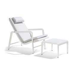 Mirthe Easy Chair Cush & Stool | Gartensessel | Tribù