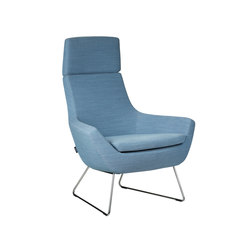Happy easy chair high back | Armchairs | Swedese