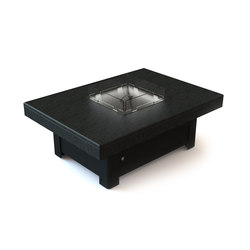 Bahama Gas Fire Table | Caminetti da giardino | Rivelin