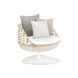 Swingrest Lounge chair, rotating | Garden armchairs | DEDON