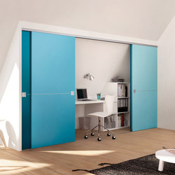 Wooden door sliding door system | Space dividing storage | raumplus
