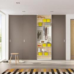 Wooden door sliding door system | Space dividing storage | raumplus