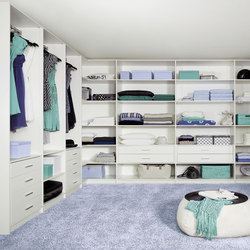 Ecoline interior closet storage system | Room dividers | raumplus