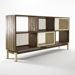 Color BeBop SEE-THROUGH SIDEBOARD w/ 4 SLIDING DOORS - 6 COMPARTMENTS | Credenze | Karpenter