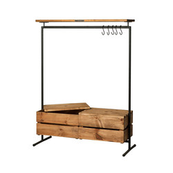 CLOTHINGRACK 2 WOOD & BOXES | Freestanding wardrobes | Noodles Noodles & Noodles Corp.