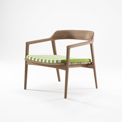 Grasshopper EASY CHAIR WITH CUSHION SUNBRELLA MACAO STRIPE | Armchairs | Karpenter