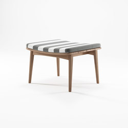 Grasshopper OTTOMAN WITH CUSHION SUNBRELLA PORTO AZUR | Hocker | Karpenter