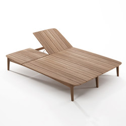 Grasshopper DOUBLE SUNBED WITHOUT CUSHION | Sdraio da giardino | Karpenter