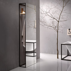 BetteLux Shape standing mirror | Estanterías toallas | Bette