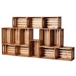 WOOD CRATE 1 LARGE | Office shelving systems | Noodles Noodles & Noodles Corp.