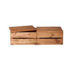WOOD CRATE 2 LARGE | Storage boxes | Noodles Noodles & Noodles Corp.