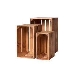WOOD CRATE 2 SET | Storage boxes | Noodles Noodles & Noodles Corp.