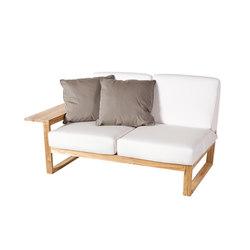 Lineal Modul Sofa 2, rechter Arm | Gartensofas | Point
