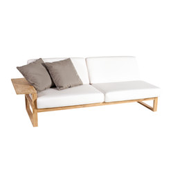 Lineal Modul Sofa 3, rechter Arm | Gartensofas | Point