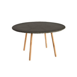 Round Round dining table weaving top | Tavoli da pranzo da giardino | Point