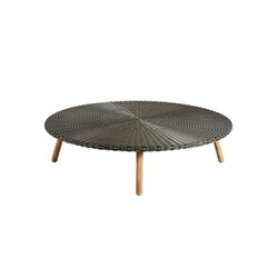Round Coffee table weaving top | Tables basses de jardin | Point