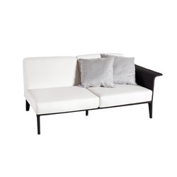 U Modul Sofa 2, Armlehne links | Gartensofas | Point