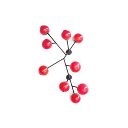 branch wallpiece rose red | Wall decoration | SkLO