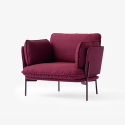 Cloud One Seater LN1 vulcano red | Lounge chairs | &TRADITION