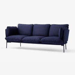 Cloud Three Seater LN3 black blue | Lounge sofas | &TRADITION