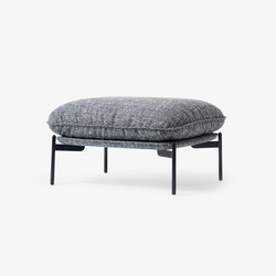 Cloud Pouf LN4 blue tweed | Poufs | &TRADITION