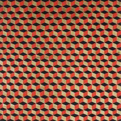 Mini infini red gold | Tappeti / Tappeti d'autore | cc-tapis