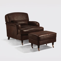 Continental armchair & stool | Lounge chairs | Lambert