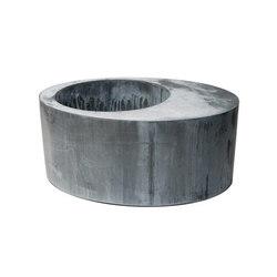 Zinc Oval Round | Bacs à fleurs / Jardinières | Domani
