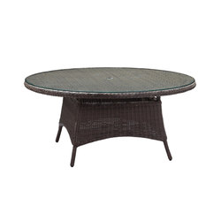 Colonial 170cm Round Table | Tables à manger de jardin | Akula Living