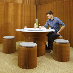 cantilever table circular top | natural kraft paper | Tables de restaurant | molo