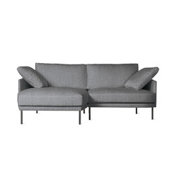 Camber Compact Sectional in Fabric, Left, Onyx Legs | Modular sofa systems | Design Within Reach