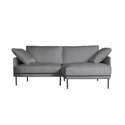 Camber Compact Sectional in Fabric, Right, Onyx Legs | Modular sofa systems | Design Within Reach