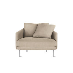 Camber Armchair in Fabric, Stainless Legs | Armchairs | Design Within Reach