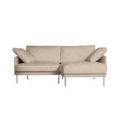 Camber Compact Sectional in Fabric, Right, Stainless Legs | Modular sofa systems | Design Within Reach