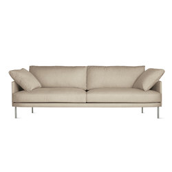 """Camber 93"""" Sofa in Fabric, Stainless Legs 