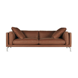 "Como 92"" Sofa in Leather 